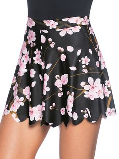Cherry Blossom Black Shorties - 48HR (AU $50AUD) by Black Milk Clothing