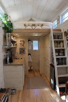 160-sqft Tiny Hall House DIY Tiny House in New England