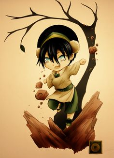 THE LAST AIRBENDER!  (Chibi Toph by ~andungen on deviantART)