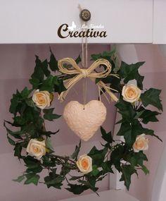 La Tienda Creativa - Letras para decorar y mucho más: Corona de hiedra y rosas