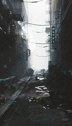 paisaje urbano fragments-of-a-hologram-dystopia: (source) Apocalypse Aesthetic, Apocalypse Art, Cyberpunk City, Fantasy Landscape, Urban Landscape, Dark Photography, Street Photography, Fantasy City, Futuristic Art