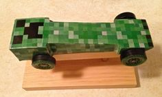 Minecraft pinewood derby car                                                                                                                                                                                 More