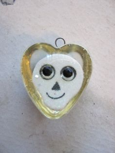 Resin Skull Heart Charm by jansbeads on Etsy, $4.50