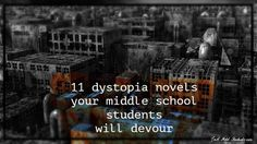 Dystopian literature remains popular with middle school students and they cant seem to get enough of this genre. Maybe your gifted Upper Elementary readers would love them too. Middle School Book List, Middle School English, English Class, Teaching Reading, Reading Lists, Book Lists, Novels, Upper Elementary, Classroom Ideas