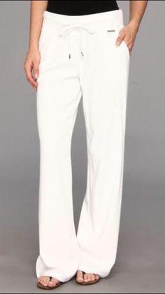 Michael Kors Luxurious White Active Velour Women's Pants Plus Size 1X New! #MichaelKors #ActiveWear