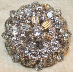 vintage rhinestone pin - Google Search