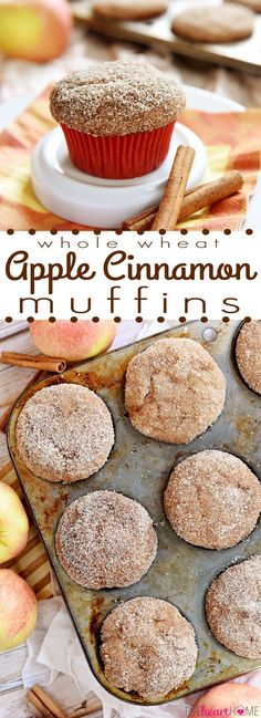 Whole Wheat Apple Cinnamon Muffins FoodBlogs.com