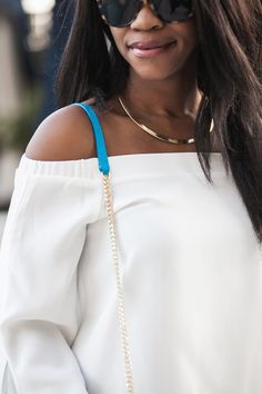 taudrey collar necklace, dc style blog, bardot top trend