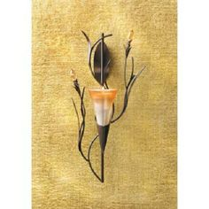 'Dawn Lily Wall Sconce-Pair' is going up for auction at  4pm Wed, Mar 19 with a starting bid of $15.