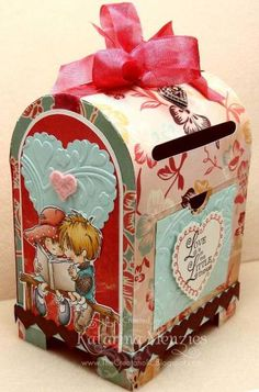 Mailbox for my Valentine *front view* by KatarinaM - Cards and Paper Crafts at Splitcoaststampers
