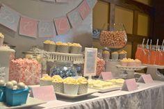 winter wonderland baby shower - Sweet table