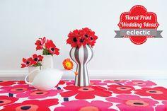 Floral Print Wedding Ideas- design inspiration