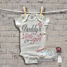 Daddys Little Girl,baby girl,bodysuit, Happy Fathers Day, First Father – ReezThings