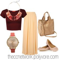 """Maxi Skirt Outfit 10"" by theccnetwork on Polyvore"