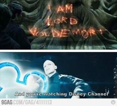 """Harry Potter << This is perfect, and I love the Disney Channel meme with Loki as well, but there also needs to be a Severus Snape one. """"I'm the Half-Blood Prince, and you're watching Disney Channel. Harry Potter Humor, Harry Potter Facts, Harry Potter Stuff, Harry Potter Tumblr Funny, Harry Potter List, Harry Potter Friends, Memes Humor, Funny Memes, Hilarious Jokes"""