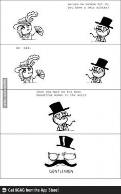 Pick up line like a gentleman funny rage comic | Funny weird viral pics