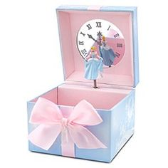 Disney Princess Cinderella Jewelry Box - A child's tiniest treasures will be forever remembered in this delicate Disney Princess Jewelry Box. Cinderella transforms this classic keepsake box into an enchanting chest with tiny turning figurine and a music box that plays her unforgettable theme.