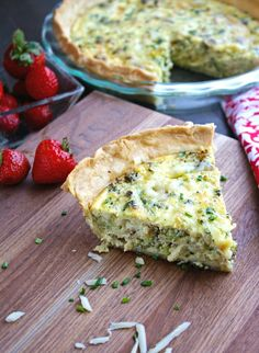 Roasted Broccoli and Swiss Quiche makes a great Meatless Monday meal, or…