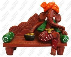 A very appealing ganesh statue with modern art. Ganeshji in modern look all set to come to your home. A wide collection of ganesh statues for home decor. Clay Ganesha, Ganesha Art, Ganesh Idol, Eco Friendly Ganesha, Ganesh Chaturthi Decoration, Indian Inspired Decor, Ganapati Decoration, Lord Ganesha Paintings, Ganesh Statue