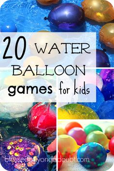 20 FUN Water Balloons Games for Kids - Water Balloons - Ideas of Water Balloons - Here are 20 water balloon games to keep your kids busy this summer. Balloon Games For Kids, Water Balloon Games, Water Games For Kids, Summer Fun For Kids, Summer Activities For Kids, Indoor Activities, Water Activities, Kids Fun, Family Activities