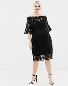 Party look plus size outfit ideas Cocktail Dresses With Sleeves, V Neck Cocktail Dress, Plus Size Cocktail Dresses, Plus Size Party Dresses, Party Dresses For Women, Plus Size Outfits, Beautiful Dresses For Women, Crochet Midi Dress, Look Plus Size