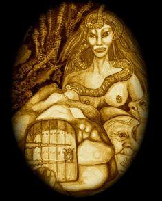 Mouras. Mujeres bellísimas y encantadas que viven en las fuentes, castros o ruínas de antiguos monumentos o castillos, bajo el agua o bajo la tierra.