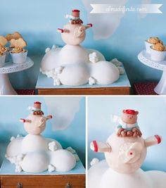 Alma de fiesta: Una Baby shower para Sara Carbonero Cake Pops, Cakes For Boys, Boy Cakes, Vintage Boys, Creative Cakes, Fondant Cakes, Baby Shower Cakes, Teddy Bear, Sweets