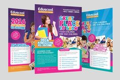 Elementary School Promotion Flyer by graphicstall on @creativemarket