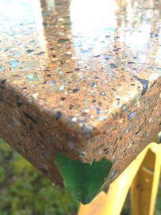 Concrete counter top with sea glass by Noah Powell