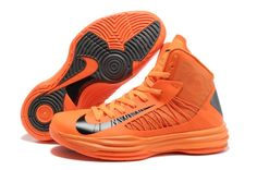 Buy 2013 New Nike Lunar Hyperdunk 2013 Basketball Shoes Orange Blaze Black Basketball Shoes Store