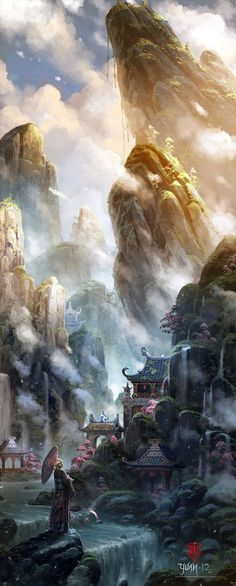 monde paysage fantastique ou personnage