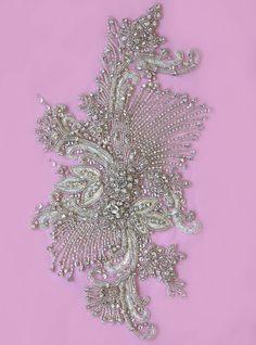 Cristal de Swarovski de la boda vestido apliques - Hércules