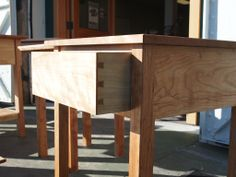 Cherry side table. My first half-blind dovetails  #woodworking #joinery #handtool #tool #chest #carpentry #traditional #dovetail #side-table #cherry