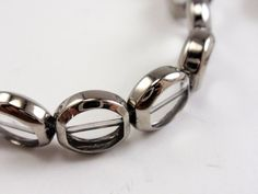 10mm Window Beads Silver Framed by TUTreasures on Etsy, $3.50 #beadweaving #beads #silver