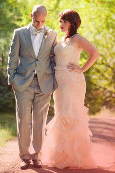 Love this for a reception dress! Vera Wang blush wedding dress