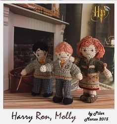 #amigurumi Harry Potter, Ron,Molly
