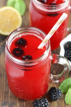 A simply and easy to make blackberry lemonade recipe that's perfect for spring or summer!