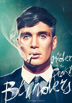 Thomas Shelby - Peaky Blinders by Flore Maquin Peaky Blinders Quotes, Peaky Blinders Saison, Peaky Blinders Poster, Peaky Blinders Wallpaper, Peaky Blinders Thomas, Cillian Murphy Peaky Blinders, Pulp Fiction, Maya Grant, Movie Synopsis