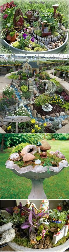 DIY Ideas How To Make Fairy Garden - Gardening Designing