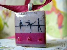 Scrabble tile pendant SHE Scrabble piece by LaMiaCasa on Etsy, $6.95