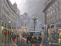 PETE RUMNEY FINE ART MODERN ACRYLIC OIL ORIGINAL PAINTING REGENT STREET LONDON in Art, Artists (Self-Representing), Paintings | eBay