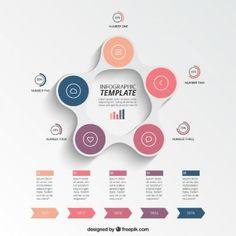 Circular plantilla infografía