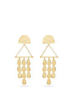 Balenciaga Layered triangle clip-on earrings lqlR6J