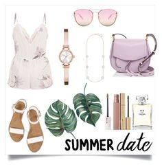 """""""Summer Date"""" by stephvel ❤ liked on Polyvore featuring Marc Jacobs, Quay, DKNY, Swarovski, Chanel, Stila and Maybelline"""