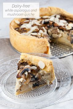 Looking for a vegetarian and dairy-free awesome recipe? Look no further, dairy-free white asparagus and mushroom quiche would be your perfect recipe!