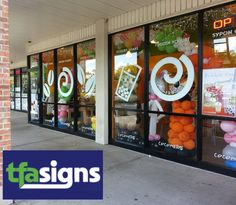Tfa signs use Chicago state of the art computerized vinyl graphics system to produce fine quality pre-spaced letters and logos for market displays, windows, vehicle graphics and many more. http://tfasigns.com/