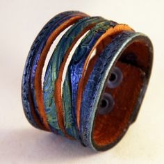 artisan Cuff Bracelets for Women | Leather Cuff Wristband Bracelet for Women Gift for Her