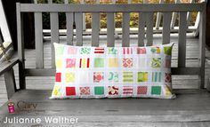 A fun bench pillow made from a mini charm pack and 1 yard of fabric. One pack of mini charms OR...