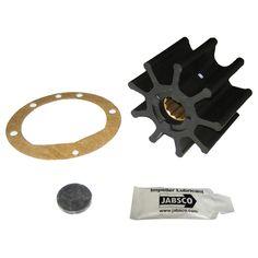 """Jabsco Impeller Kit - 9 Blade - Nitrile - 3-3/4"""" Diameter x 2-1/2"""" W, 1"""" Shaft Diameter - https://www.boatpartsforless.com/shop/jabsco-impeller-kit-9-blade-nitrile-3-34-diameter-x-2-12-w-1-shaft-diameter/"""
