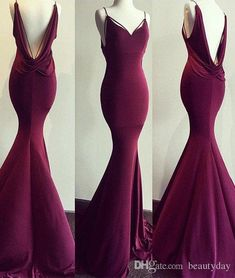 2018 Burgundy Spandex Sexy Evening Dresses With Low Cut Back Plus Size Celebrity Dresses Women Formal Prom Party Gowns Red Carbet